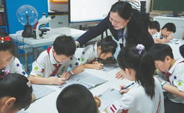 Headmistress shows her class through leading by example